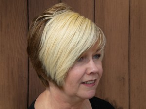 blond and brunette hair color by Maureen Martinez, salon professional hairstylist in Ventura County